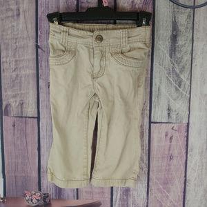 girls 18 m cherokee khakis half elastic back B36
